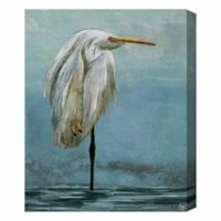 Lonely Crane 16-Inch x 20-Inch Canvas Wall Art