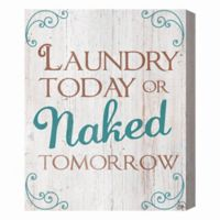Laundry Today 16-Inch x 20-Inch Canvas Wall Art