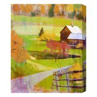 Farmhouse Falltime 16-Inch x 20-Inch Canvas Wall Art