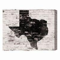 Texas Brick 16-Inch x 20-Inch Canvas Wall Art