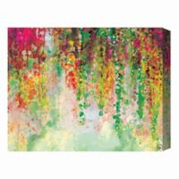 Chartreuse Draped Wisteria 16-Inch x 20-Inch Canvas Wall Art