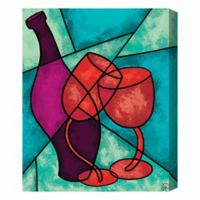 Wine and Glasses 16-Inch x 20-Inch Canvas Wall Art