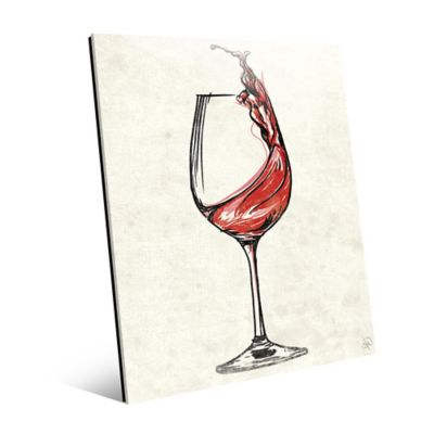 Wine Glass Splash 20 Inch X 24 Inch Acrylic Wall Art