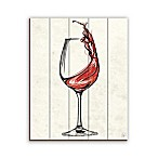 Wine Glass Splash 16-Inch x 20-Inch Wood Wall Art