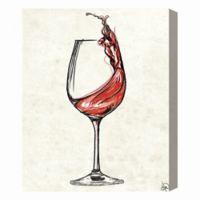 Wine Glass Splash 16-Inch x 20-Inch Canvas Wall Art