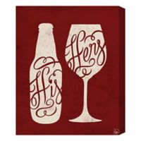 His Beer and Her Wine 16-Inch x 20-Inch Canvas Wall Art