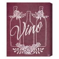 Vino Triplets 16-Inch x 20-Inch Canvas Wall Art
