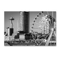 Wheel and Needle 22-Inch x 32-Inch Canvas Wall Art