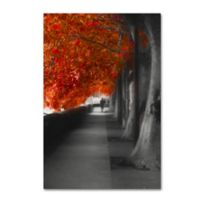 Autumn Promenade 30-Inch x 47-Inch Canvas Wall Art