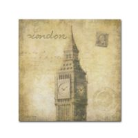 Stephanie Marrot's London 14-Inch Square Canvas Wall Art