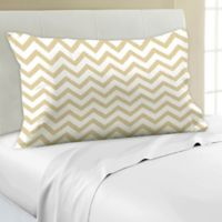 Mix-and-Match Chevron Printed 330-Thread-Count Pillowcase in Gold
