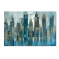 Silvia Vassileva's Rhythmic Reflection Light 12-Inch x 19-Inch Canvas Wall Art