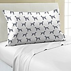 Mix-and-Match Dog Printed 330-Thread-Count Pillowcase in Navy