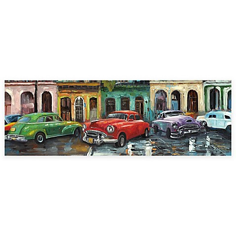Cuban Colors I Panel I 12-Inch x 36-Inch Canvas Wall Art - Bed Bath ...
