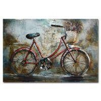 Benjamin Parker Red Bike Metal Wall Art
