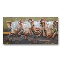 Pig Party 47-Inch x 24-Inch Metal Wall Art