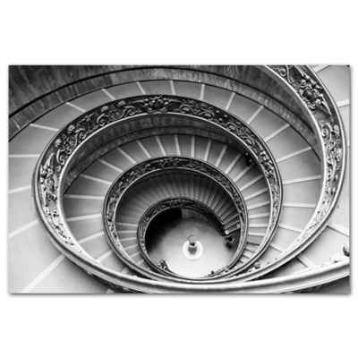 Benjamin Parker Spiral 32-Inch x 48-Inch Tempered Glass Wall Art
