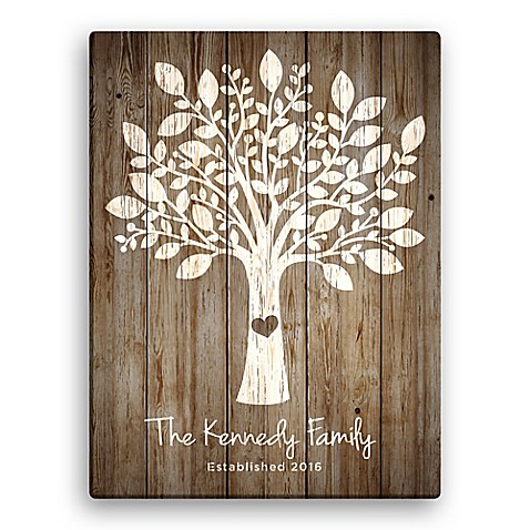 family tree personalized canvas wall art bed bath beyond. Black Bedroom Furniture Sets. Home Design Ideas