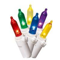 Winter Wonderland 21-Feet 100-Light LED Mini String Lights in White/Multicolor