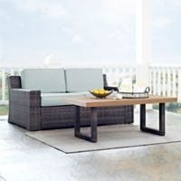 Crosley Beaufort 2-Piece Outdoor Wicker Patio Set with Mist Cushions