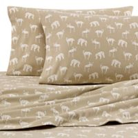 Eddie Bauer® Buckhead Ridge Queen Flannel Sheet Set in Beige