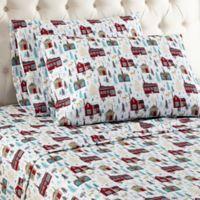Micro Flannel® Cabin Print King Sheet Set
