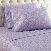 Micro Flannel® Violet Print Twin Sheet Set in Purple