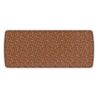 GelPro® Elite Decorator New Leaves 30-Inch x 72-Inch Kitchen Mat in Amber