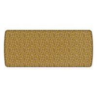 GelPro® Elite Decorator New Leaves 30-Inch x 72-Inch Kitchen Mat in Butterscotch