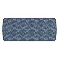 GelPro® Elite Decorator New Leaves 30-Inch x 72-Inch Kitchen Mat in Deep Sea