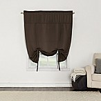 Sun Zero Bella 64-Inch Room Darkening Tie-Up Window Shade in Chocolate