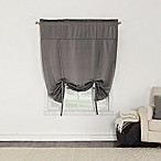 Sun Zero Bella 64-Inch Room Darkening Tie-Up Window Shade in Grey
