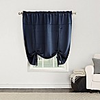 Sun Zero Bella 64-Inch Room Darkening Tie-Up Window Shade in Navy