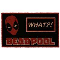"""Deadpool """"What?!"""" 17-Inch x 29-Inch Door Mat"""