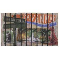 """""""Life is Better in Savannah"""" 30-Inch x 18-Inch Door Mat"""