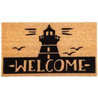 """Lighthouse """"WELCOME"""" 16-Inch x 28-Inch Coir Door Mat"""