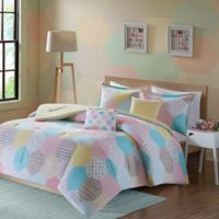 Urban Habitat Kids Trixie Full/Queen Comforter Set in Yellow/Pink