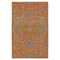 Kaleen Relic Medallion 9-Foot x 12-Foot Area Rug in Paprika