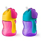 Philips Avent 2-Pack 7 oz. My Bendy Straw Cup in Pink/Purple