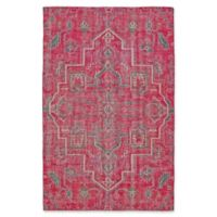 Kaleen Relic Medallion 9-Foot x 12-Foot Area Rug in Pink