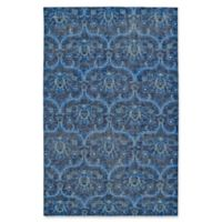 Kaleen Relic Portia 9-Foot x 12-Foot Area Rug in Blue