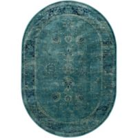 Safavieh Vintage Palace 5-Foot 3-Inch x 7-Foot 6-Inch Oval Area Rug in Turquoise