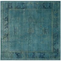 Safavieh Vintage Palace 6-Foot Square Area Rug in Turquoise