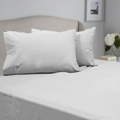 seriously soft queen sheet set in white