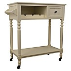 Décor Therapy Casual Wine Cart in White