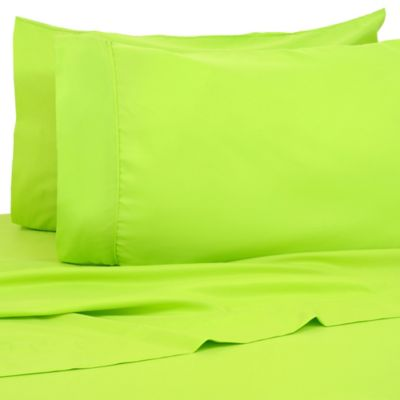 Premier Colorful 80 GSM Twin Sheet Set In Lime Green
