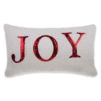 Joy Knit Oblong Throw Pillow in Ivory