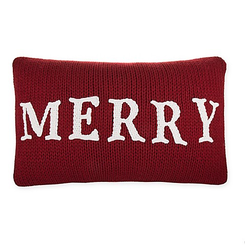 Red Throw Pillow For Bed : Merry Oblong Throw Pillow in Red - Bed Bath & Beyond