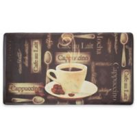 Chef Gear Cafe Au Lait Gelness 20-Inch x 32-Inch Anti-Fatigue Kitchen Mat in Brown