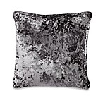 Crushed Velvet Square Throw Pillow in Charcoal
